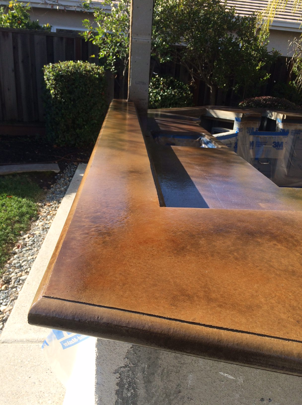 Staining and Sealing Concrete